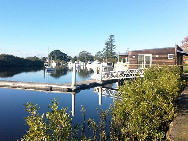 Boats moored on the Myall River